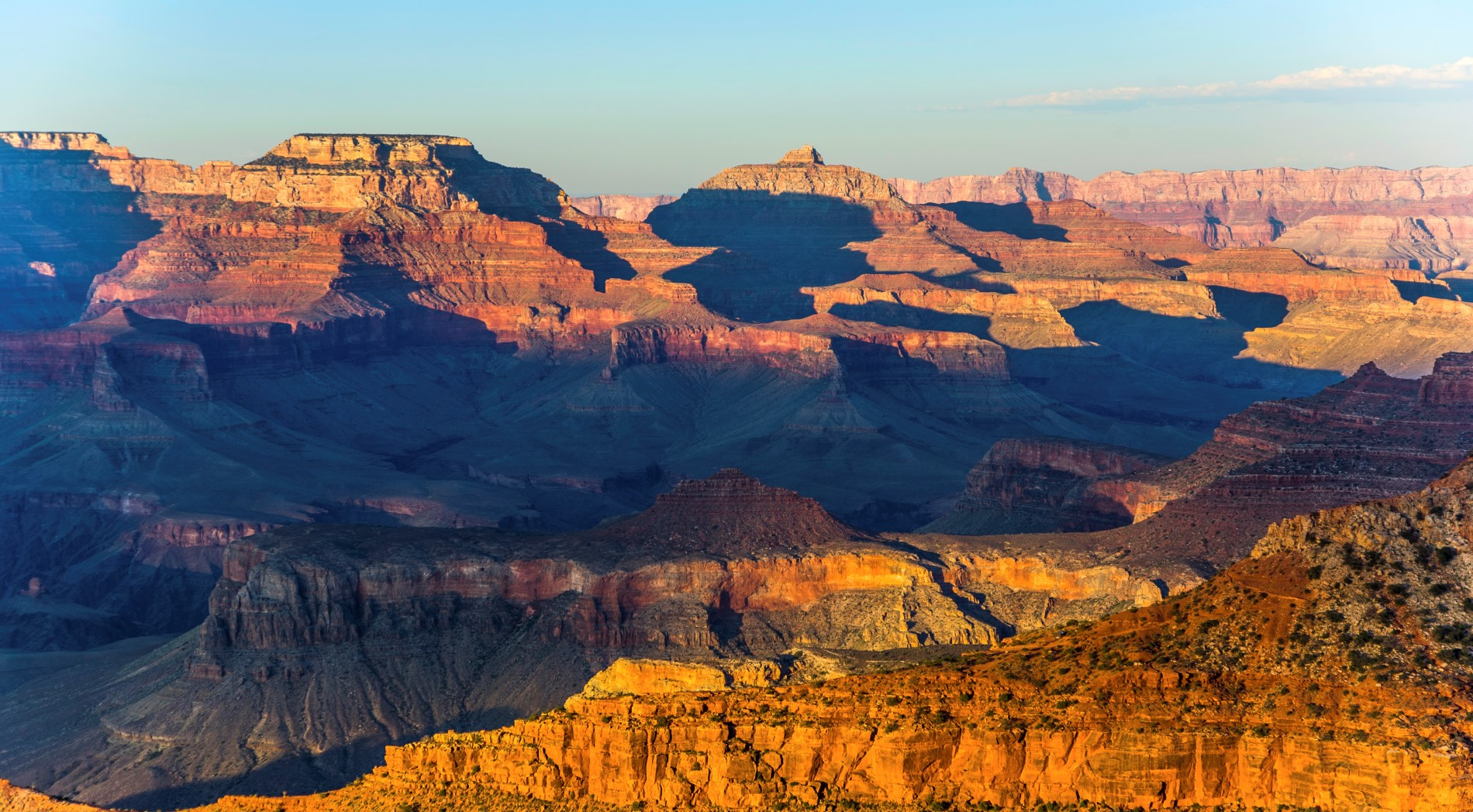 Grand Canyon at Mathers point in sunset light